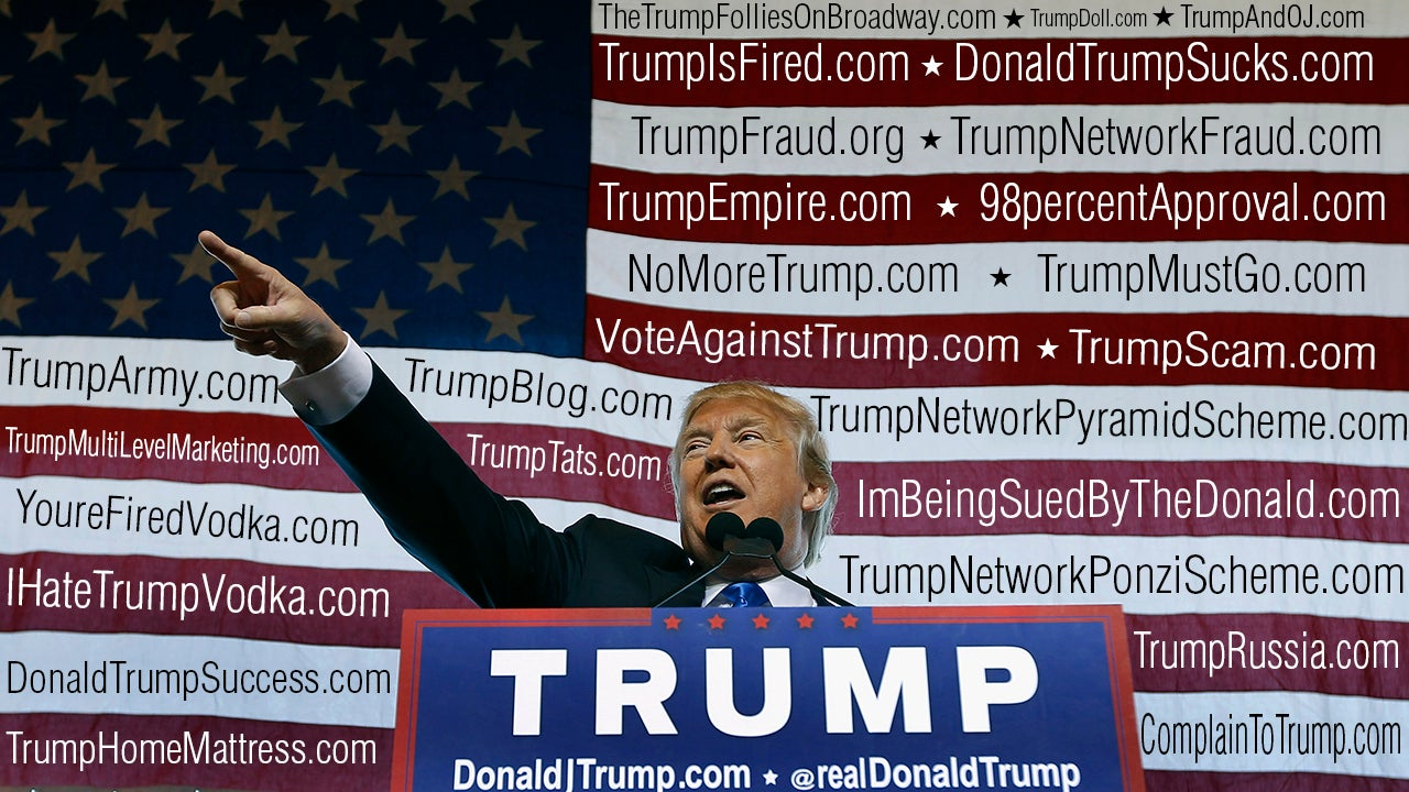 The President Of The United States Owns 3,643 Websites Including IHateTrumpVodka.com