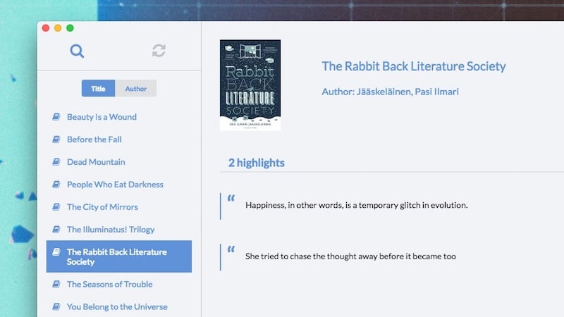 Knotes For Mac Gives You Quick Access To Your Kindle Highlights