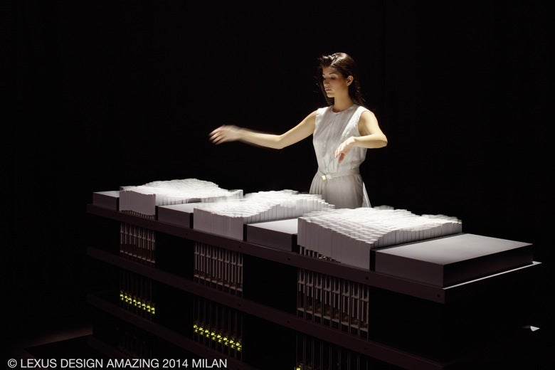 Watch an Incredible Interactive Table Morph To a Person's Movements