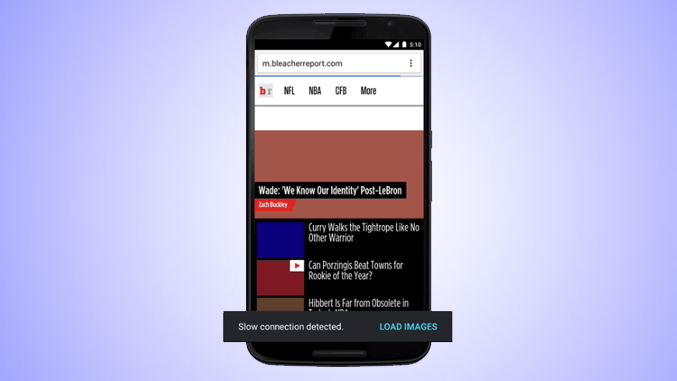 Chrome's Data Saver Mode on Android Now Loads Pages Even Faster by Blocking Images