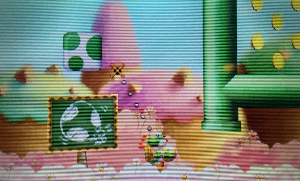 The First Screen You See When You Start The New Yoshi's Island