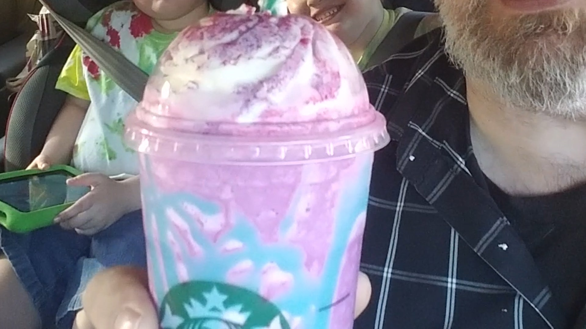 Or I Would Have Headed Home Had The Wife Not Texted Be And Asked If Wanted To Try Starbucks New Unicorn Frappuccino Of Course That
