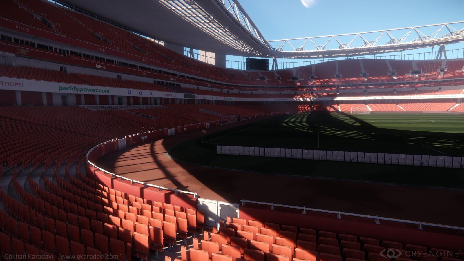 Real-Life Football Stadium Looks Glorious in CryEngine