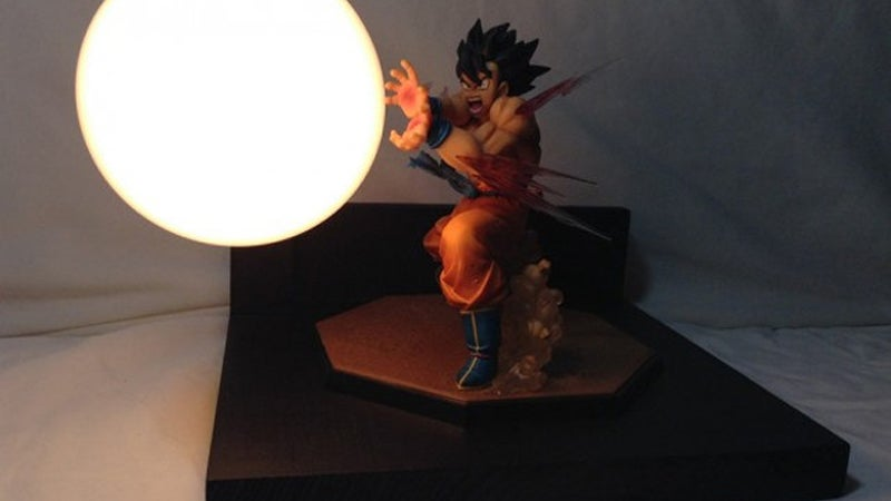 Dragon Ball Energy Attacks As Tabletop Lamps
