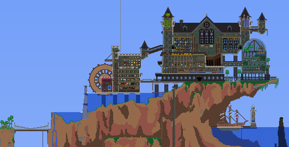That's One Hell Of A Terraria Castle