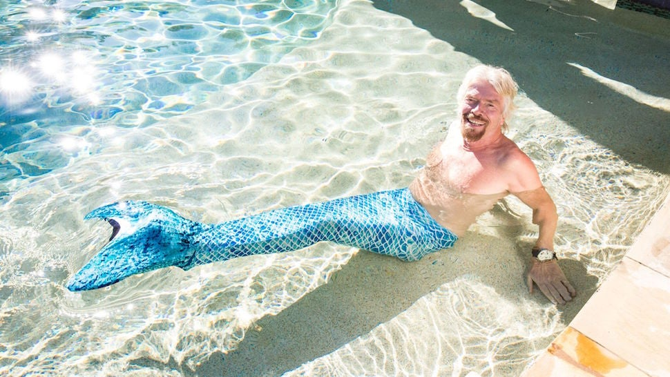 Here Is Richard Branson Dressed As A Mermaid