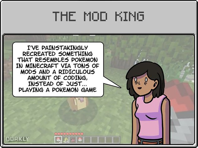 Nine Typical Minecraft Players