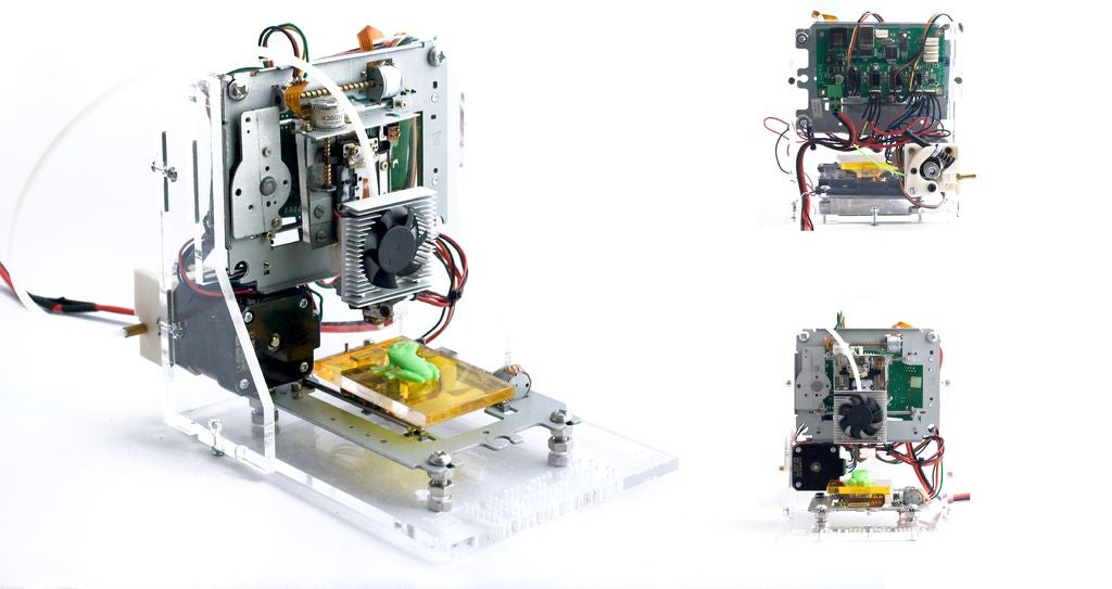 This 3D Printer Is Made Out of a Floppy Disk Drive and Other E-Waste