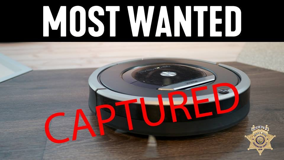 Police Respond To 911 Burglary Call, Guns Drawn — Turns Out To Be A Roomba