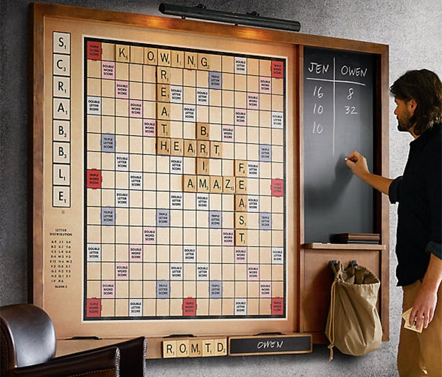 Giant Wall Scrabble Lets Everyone See What A Terrible Speller You Are