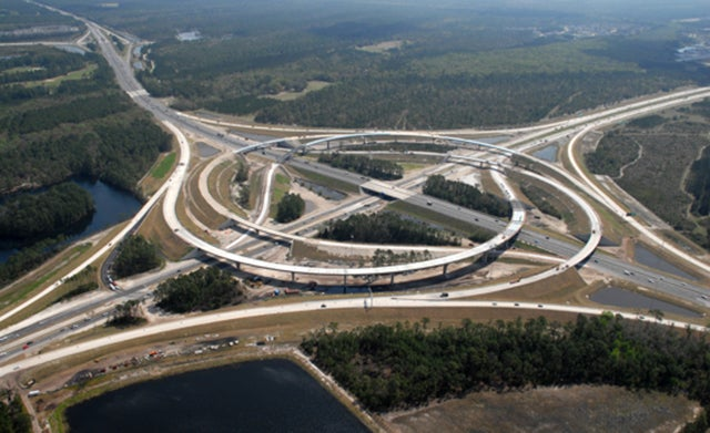This highway interchange is so damn cool I thought it was fake