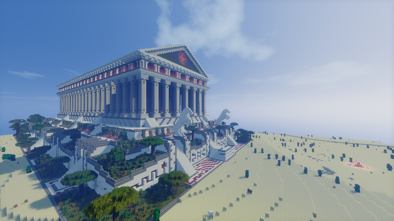 Huge Minecraft Adventure Map Stars the Wonders of the Ancient World