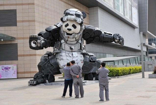 Iron Man Plus Panda Is Iron Panda