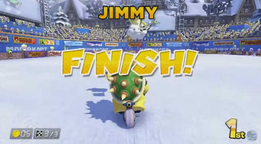 The Latest Chapter In Jimmy Fallon's Ongoing Love Affair With Mario Kart