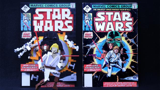 Classic Comic Book Covers Rebuilt With LEGO | Kotaku Australia