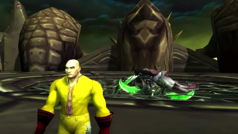 One-Punch Man Meets World of Warcraft Bosses