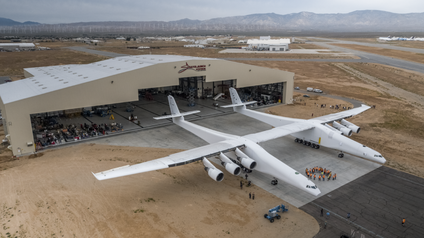 Paul Allen Shows Off The World's Largest Aeroplane For The First Time