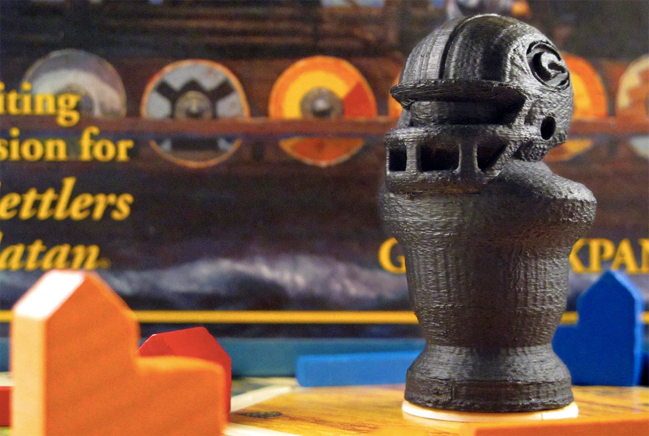 You Can 3D-Print This Green Bay Packers Version of Catan's Robber