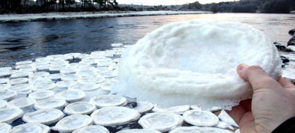 These Mysterious Ice Pancakes Have Taken Over A Scottish River
