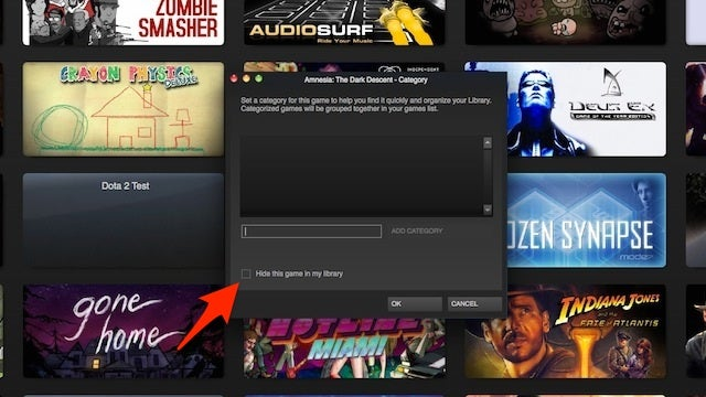 Hide Games In Steam To Declutter Your Library
