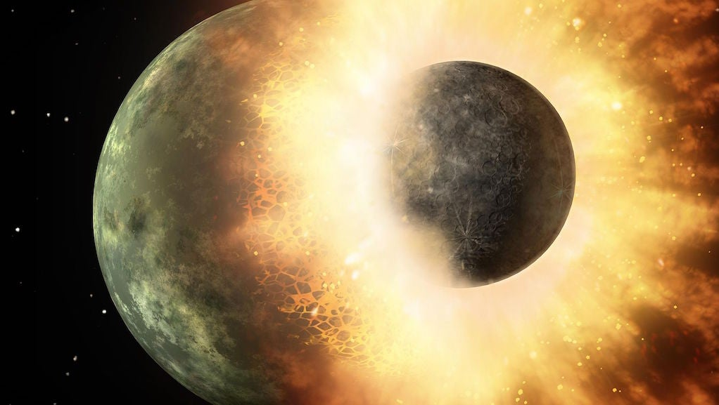 What A Nuclear Explosion Can Tell Us About The Formation Of The Moon