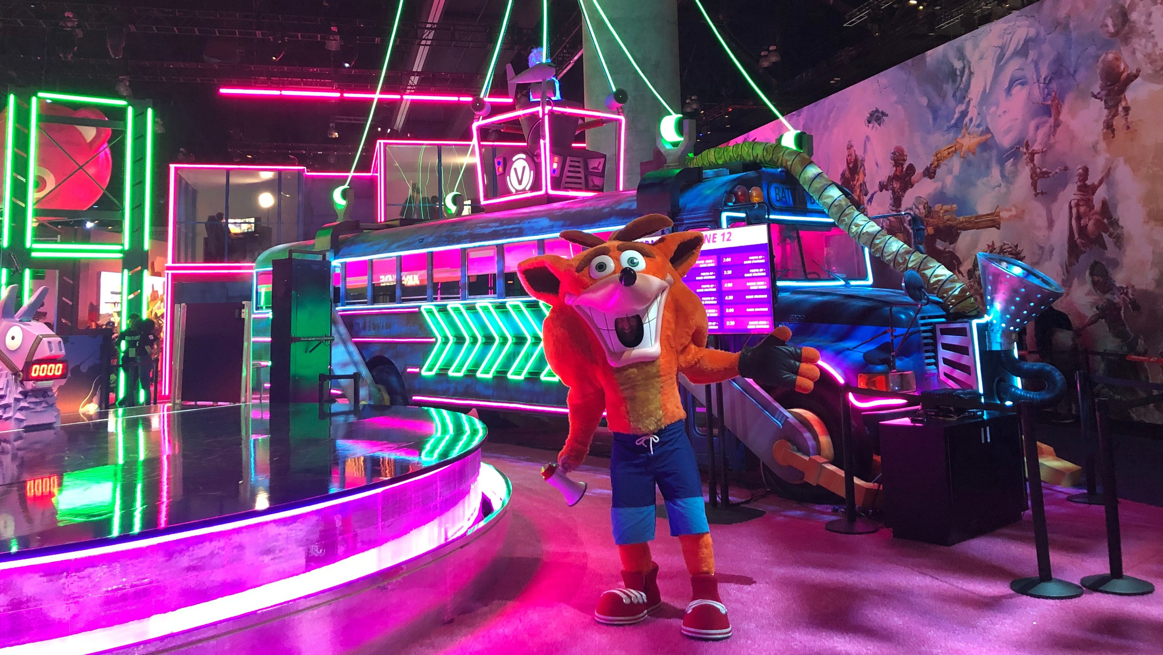 When Crash Invaded The Fortnite E3 Booth