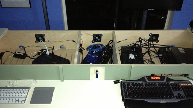 The DIY, Hidden-Peripherals Standing Workspace