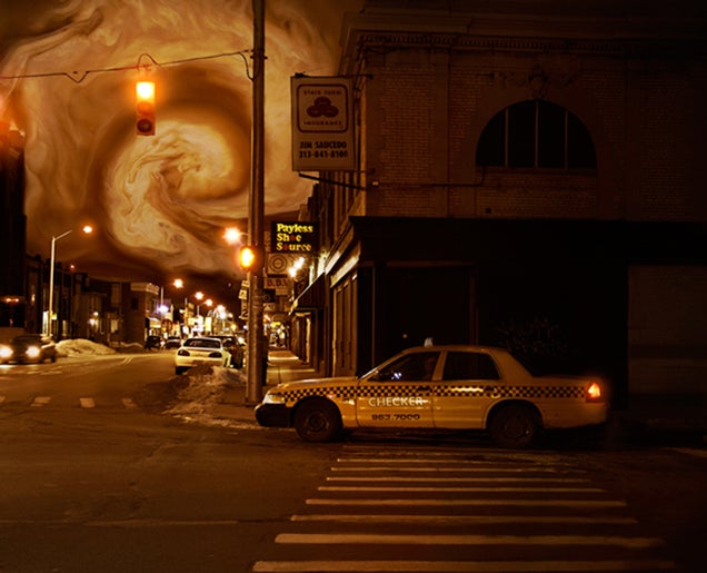 This is how New York would look submerged in a gigantic latte