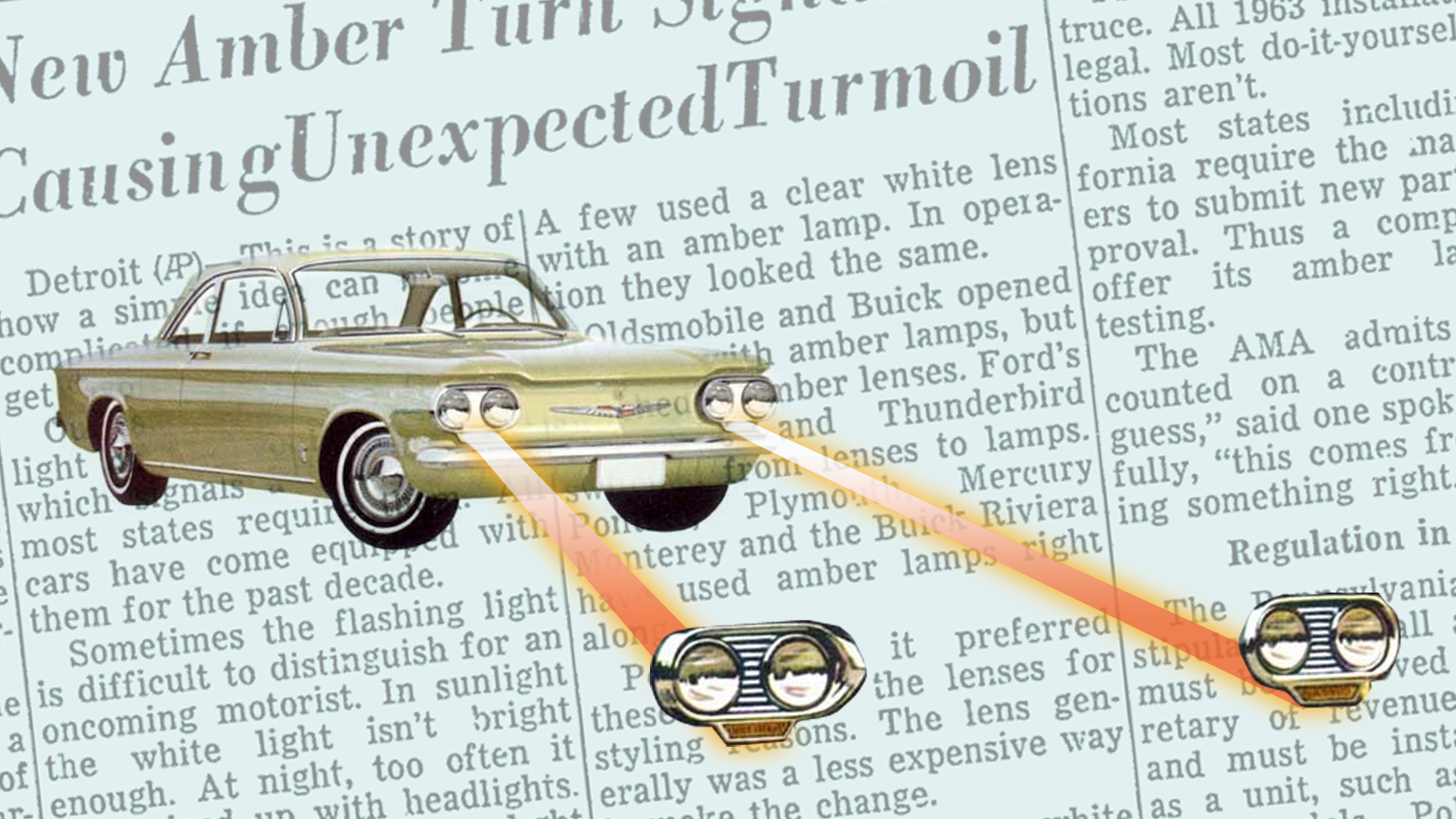 When Turn Signals Switched From White To Amber 'Unexpected Turmoil' Gripped The Nation