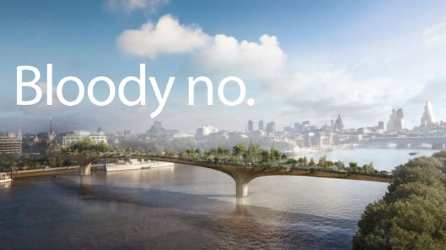 London's Crazy Stupid Garden Bridge Is Actually Going Ahead