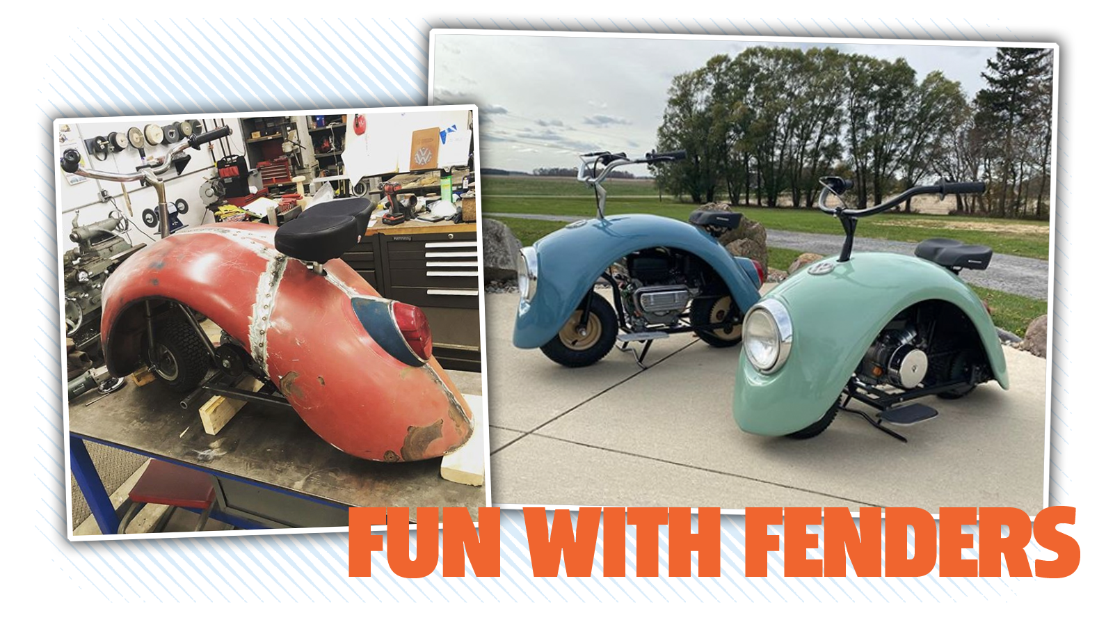 These Adorable Beetle-Fender Scooters Are More Complicated Designs Than You'd Think