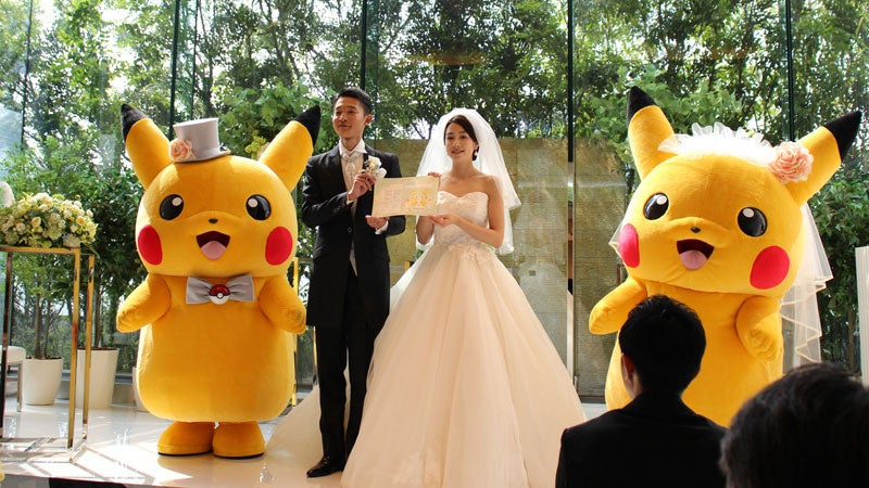 You Can Now Have Official Pokemon Weddings In Japan