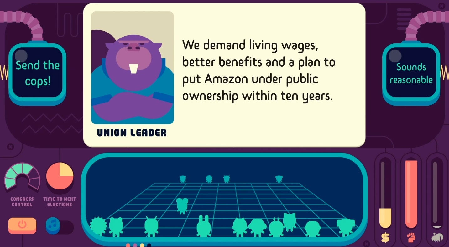 Democratic Socialism Simulator Lets You Tax The Rich, Nationalise Amazon