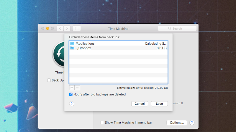 All The Folders You Can Probably Exclude From Your Mac's Backups