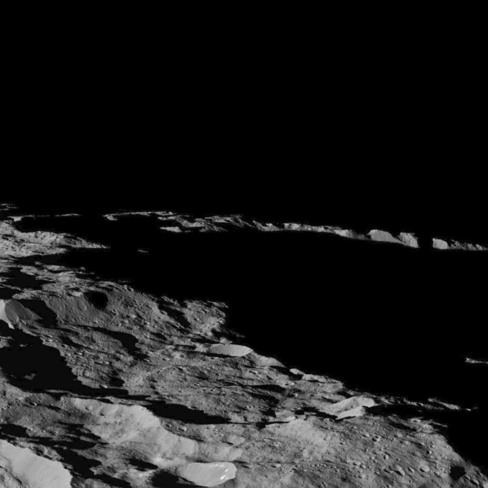 There's Long Shadows On The Southern Hemisphere Of Ceres