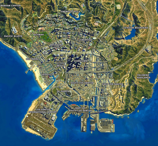 Someone Recreated GTA V39s Los Santos In Cities Skylines