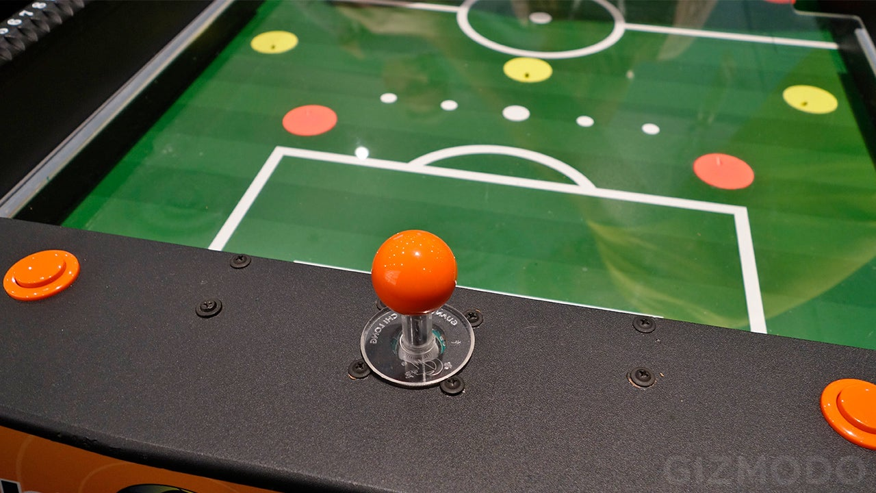 The Tiny Players On This Foosball Table Have Been Replaced With Air Jets