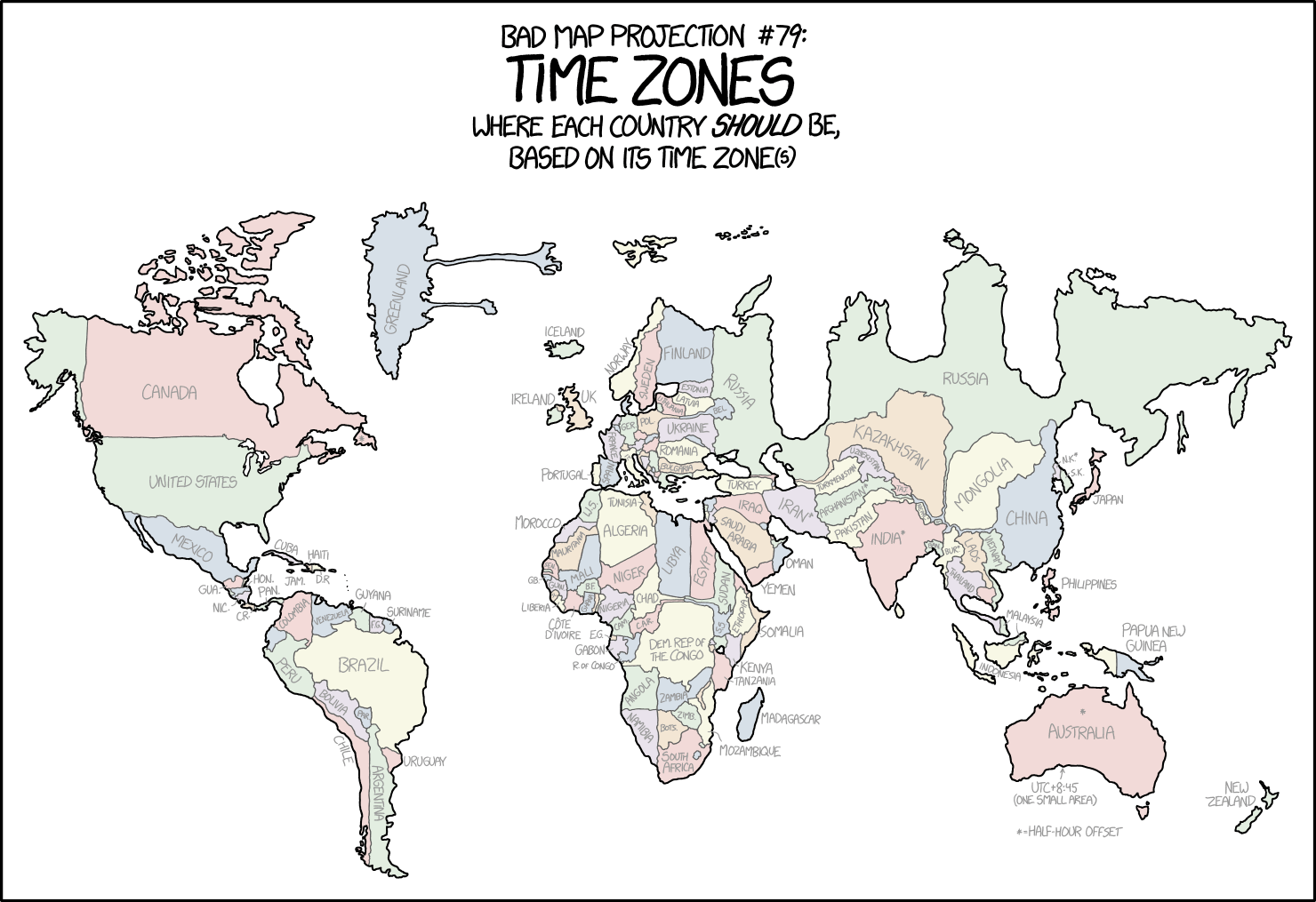 OnTimeZonecom Time Zones For The USA And North America Geography - Map of us time zones