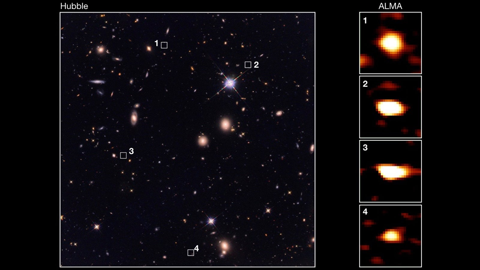 Astronomers Uncover Ancient Treasure Trove Of Massive Galaxies