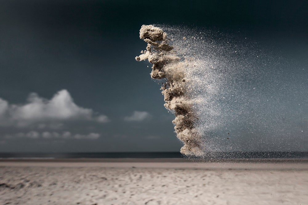 Snapshots of Sand in Mid-Air Look Like Otherworldly Explosions
