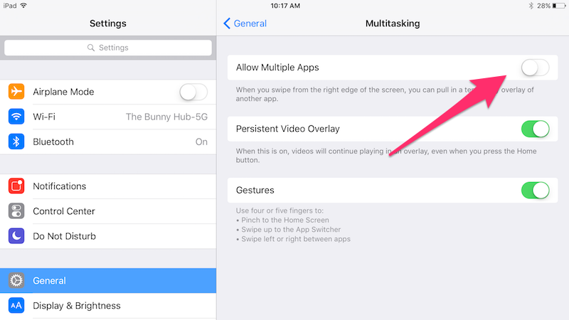 How To Disable The iPad's Slide Over Multitasking Screen