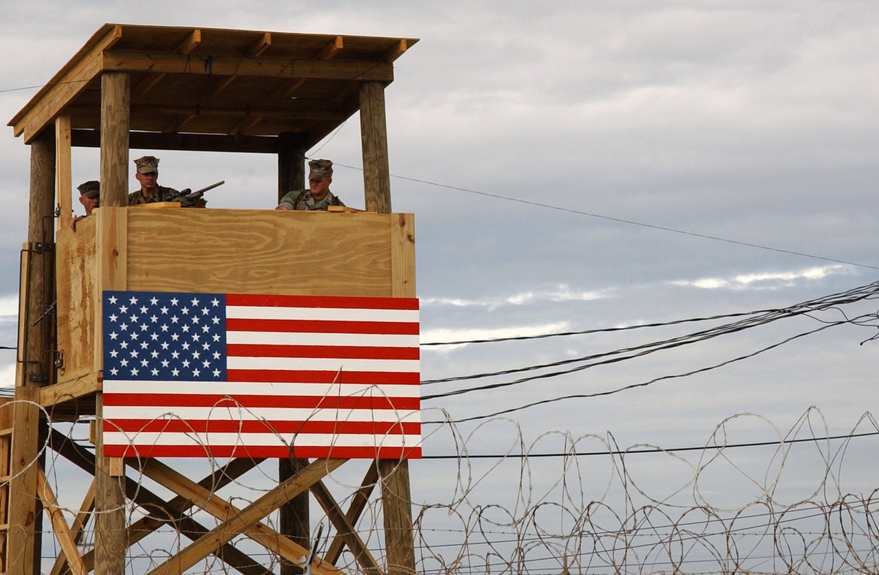 The U.S. tries to pay Cuba about $US4,000 a year to lease Guantanamo Bay