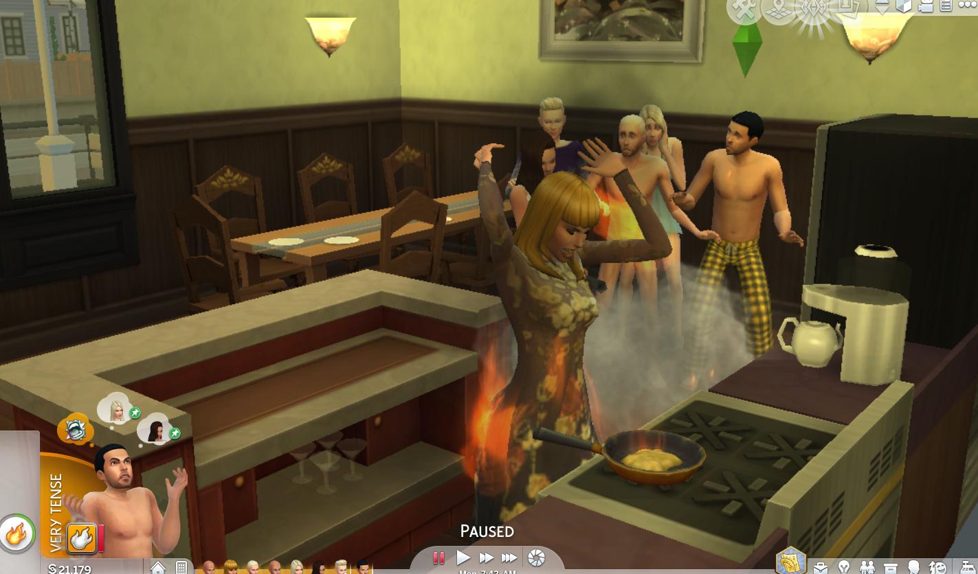 The Sims 4 Celebrity House Update: Kim Kardashian Set The House On Fire