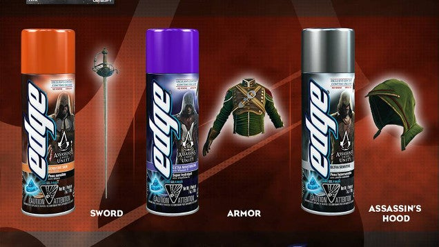 Assassin's Creed Unity DLC Bundled with...Shaving Gel