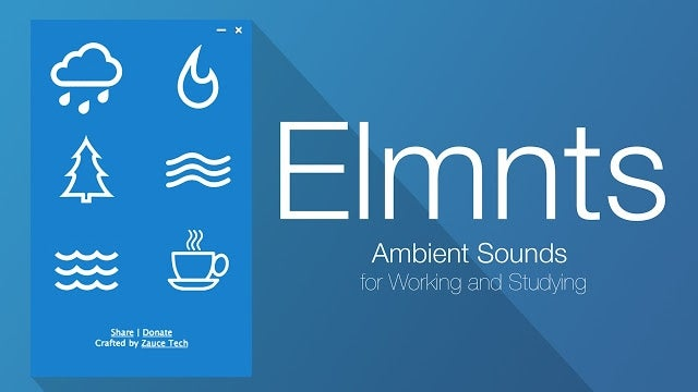 Elmnts Plays Ambient Sounds for Better Productivity Even While Offline