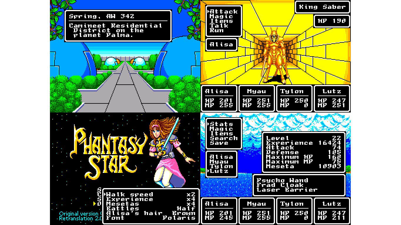 New Phantasy Star English Patch Was 14 Years In The Making
