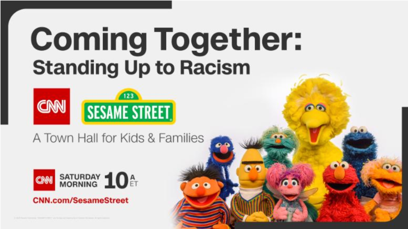 Watch Sesame Street And CNN's Town Hall On Racism