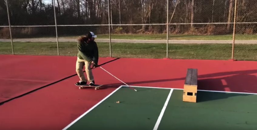 This Blind Skateboarder Uses His Cane To Do Awesome Tricks