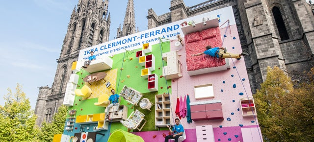 Test Your Endurance on This Ikea Showroom-Turned-Climbing Wall