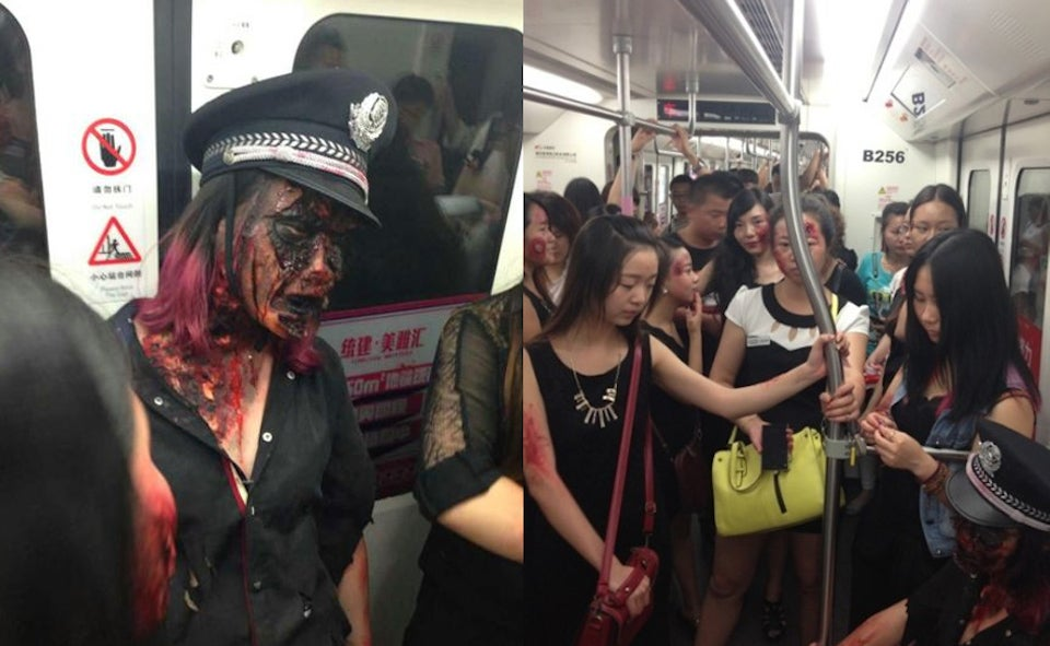 Zombie Invasion on Subway Leads To Online Complaining
